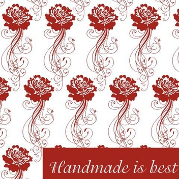 Rose Pattern Greeting Card - vector gratuit(e) #336907