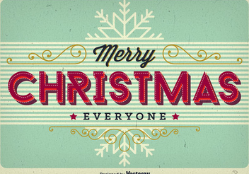 Vintage Christmas Greeting Card - Free vector #336987
