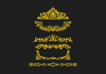 FREE SCROLLWORK VECTOR 3 - Free vector #337107