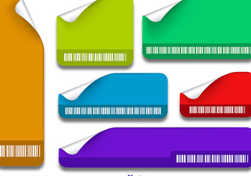 Stickers with barcode - vector gratuit #337177