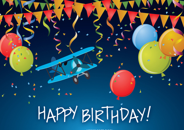 Happy Birthday funny card - vector gratuit #337347
