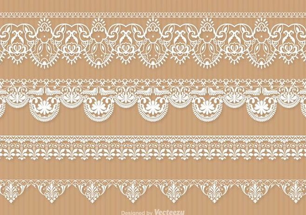 Free Lace Trim Vector Set - vector gratuit #337597