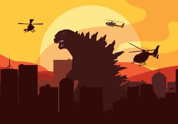 Godzilla Vector - Free vector #337647