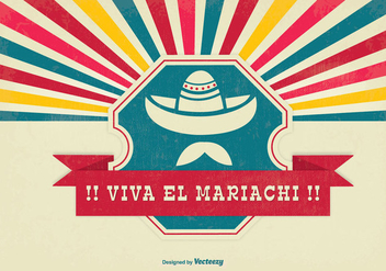 Viva el Mariachi Background Illustration - vector gratuit #337677
