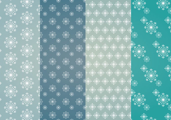 Snowflakes Vector Patterns - vector gratuit #337717