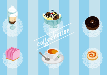 Free Set of Coffee House Vector Elements - бесплатный vector #337727