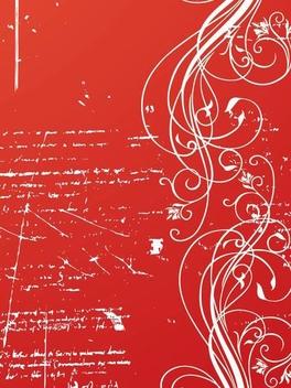 Grungy Floral Secret Letter - vector gratuit #337777