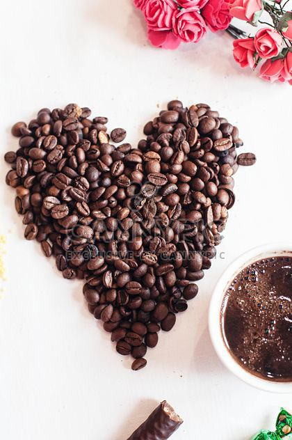 Coffee beans and cup of coffee - Free image #337897