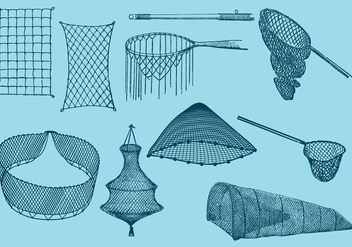 Fishing Nets - vector gratuit #337967