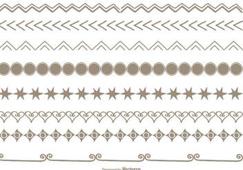 Hand Drawn Style Border Set - Free vector #337977