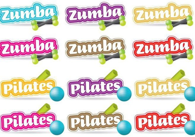 Zumba And Pilates Titles - vector gratuit #338017