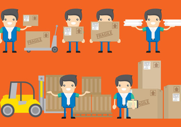 Delivery Characters - vector #338057 gratis