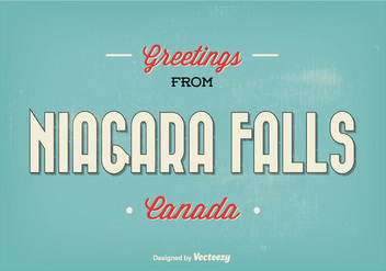 Retro Niagara Falls Greeting Illustration - Kostenloses vector #338087