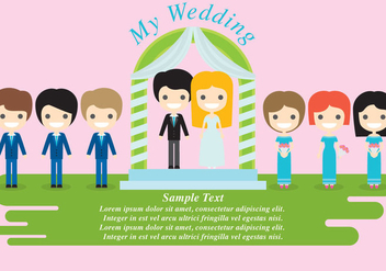 Wedding Characters - vector gratuit #338347