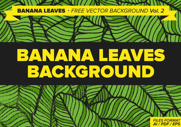 Banana Leaves Free Vector Background Vol. 2 - Free vector #338377