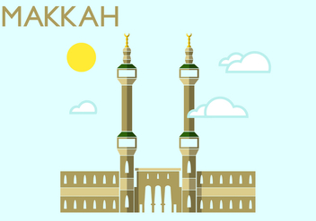 Makkah Minimalist Illustration - Free vector #338397
