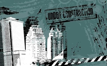Under Construction Grungy City Background - Free vector #338457