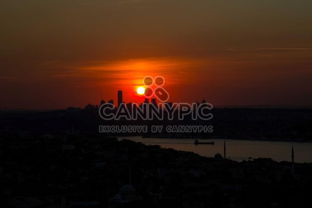 Architecture of Istanbul at sunset - Free image #338547