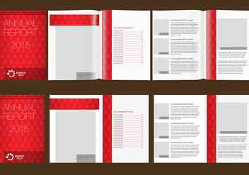 Red Annual Report - бесплатный vector #338717