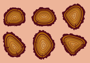 Free Tree Rings Vector Illustration #13 - Free vector #338837