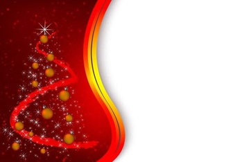 Red christmas background - vector #339037 gratis
