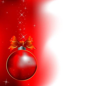Red christmas background - Free vector #339057