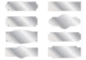 Reto Name Plates - Free vector #339277