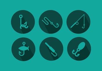 Fish Hook Vector Pack - Free vector #339337