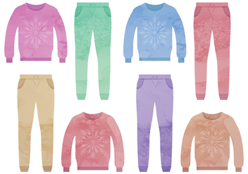 Vector Set of Colorful Clothes - Kostenloses vector #339377