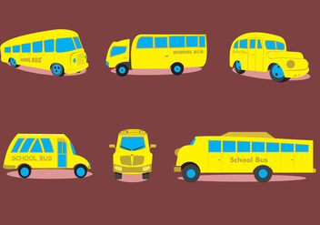 Various Types of School Bus - vector gratuit #339457