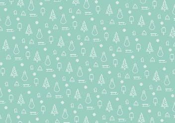 Christmas pattern background - Free vector #339477