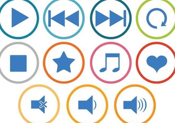 Free Music Icons Vectors - бесплатный vector #339487