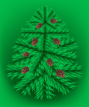 Fir christmas vector tree - Free vector #339547