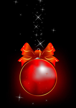 Cool christmas ball - Free vector #339557