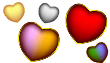 Valentine's day vector hearts - бесплатный vector #339577