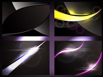 Shiny Glowing Backgrounds - Free vector #339807