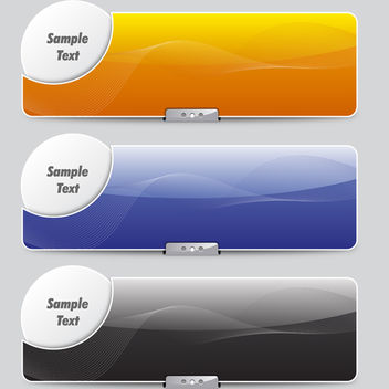 Artistic Concept Banners - Free vector #339877