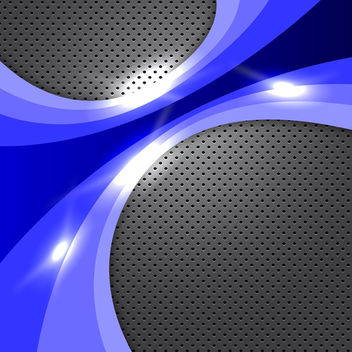 Abstract Blue Glowing Background - vector gratuit #339907