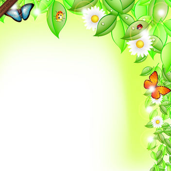Spring Leaves Abstract Vector - Free vector #339997