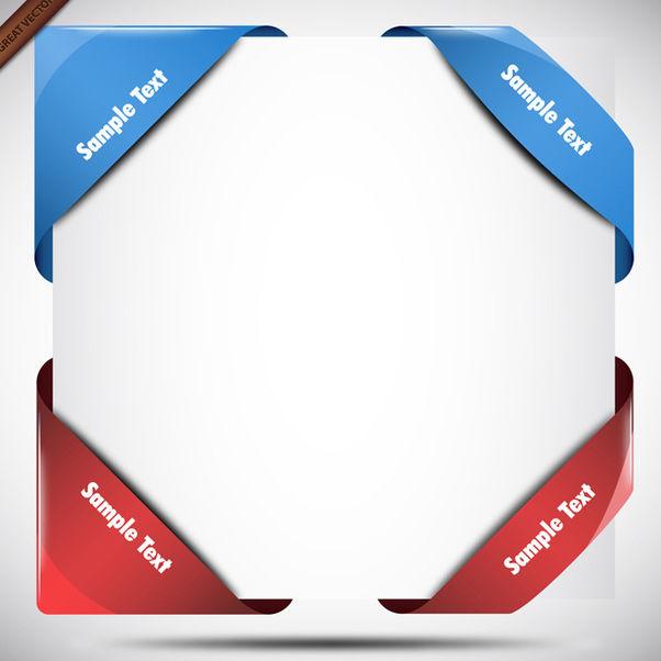 Modern Corner Ribbons - Free vector #340047