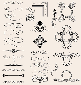 Vector Calligraphic Elements - Free vector #340057