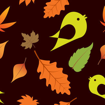 Seamless Leaves - vector gratuit #340077