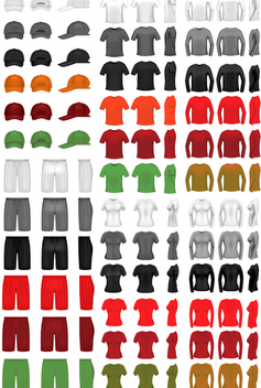 Clothing Templates - vector gratuit #340127