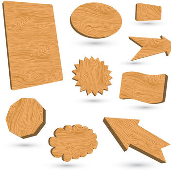 Wood Banners - vector gratuit #340137