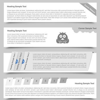 Web Banner Designs - vector gratuit #340287