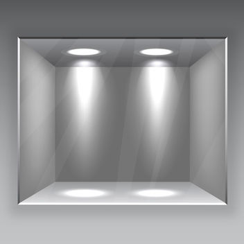 Glass Showcase Gallery - Free vector #340397