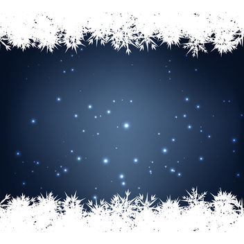 Blue Snow Background - Free vector #340417