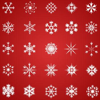 Vector Snowflakes - Kostenloses vector #340497