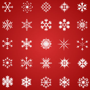 Vector Snowflakes - Free vector #340497