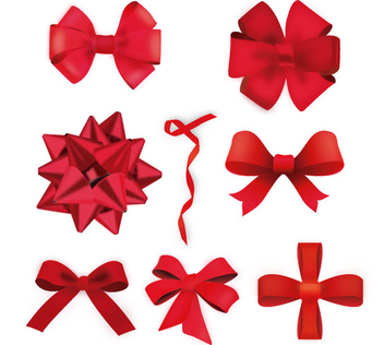 Vector Christmas Ribbons - Free vector #340757